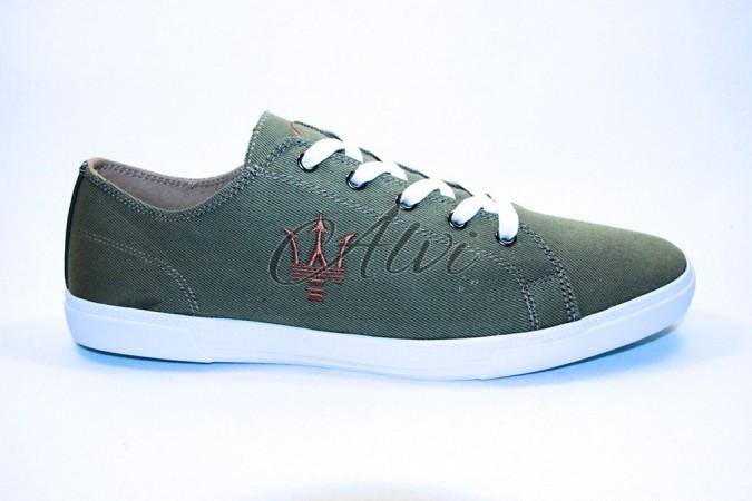 Sneakers uomo Maserati verde militare