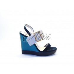 Sandalo con zeppa Jil Sander tricolore