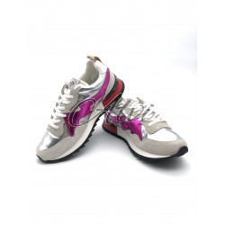 Sneakers Mulberry Argento Lucido