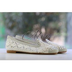 Pantofole Pluspartout in tricot bianco