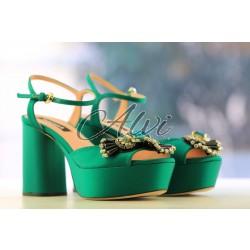 Sandali Rochas smeraldo