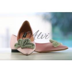 Flat Rochas pink